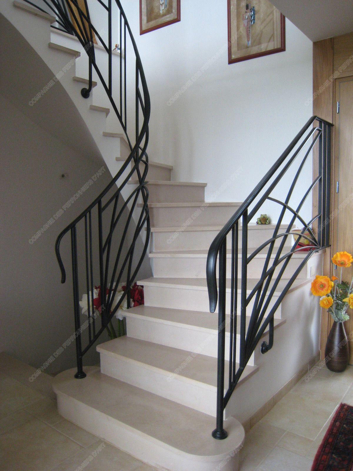 Modele D Escalier D Intérieur rampes d'escalier en fer forgé art décoratif : modèle soleil