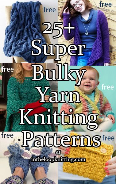 Knitting Patterns for Super Bulky or Super Chunky Yarn. Most ...
