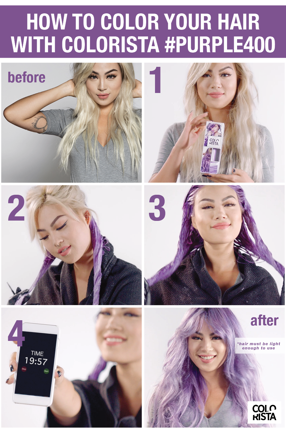 You Can Have Purple Hair With Colorista Make Sure To Leave On For 20 Minutes To Achieve The D Permanent Hair Color Semi Permanent Hair Color Blonde Hair Color