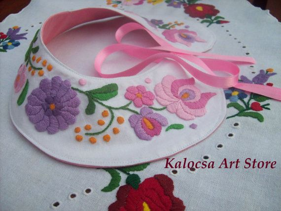Pink Matyo Dream Collar Applique made for Kate by KalocsaArtStore, $39.00
