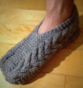 pantoufle homme tricot