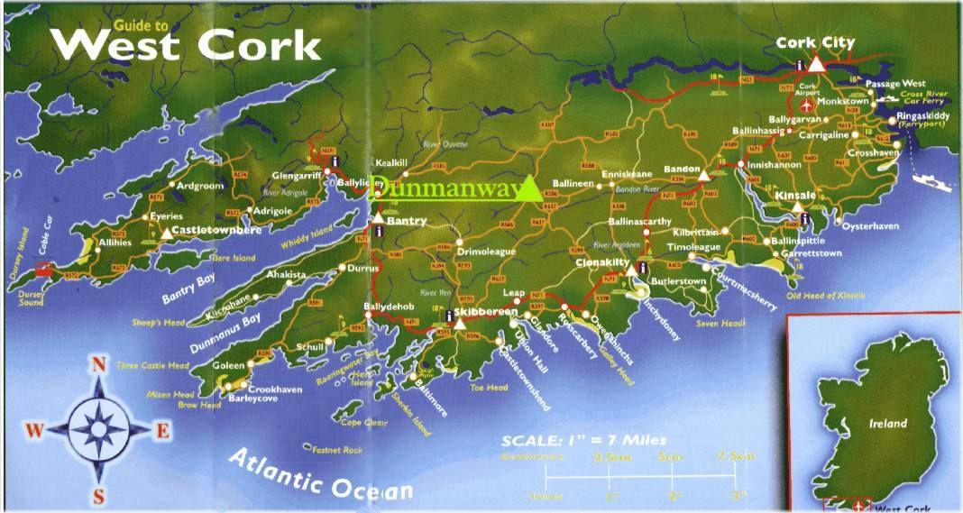Map of west corkireland ancestral eire pinterest west cork map of west corkireland gumiabroncs Gallery