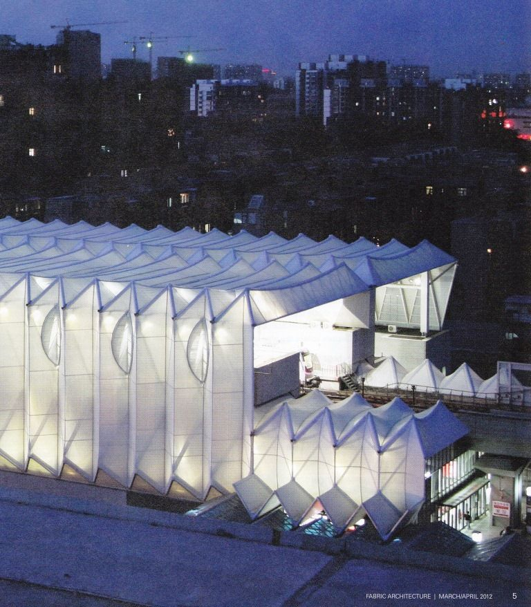 Foldable structure fabric architecture design