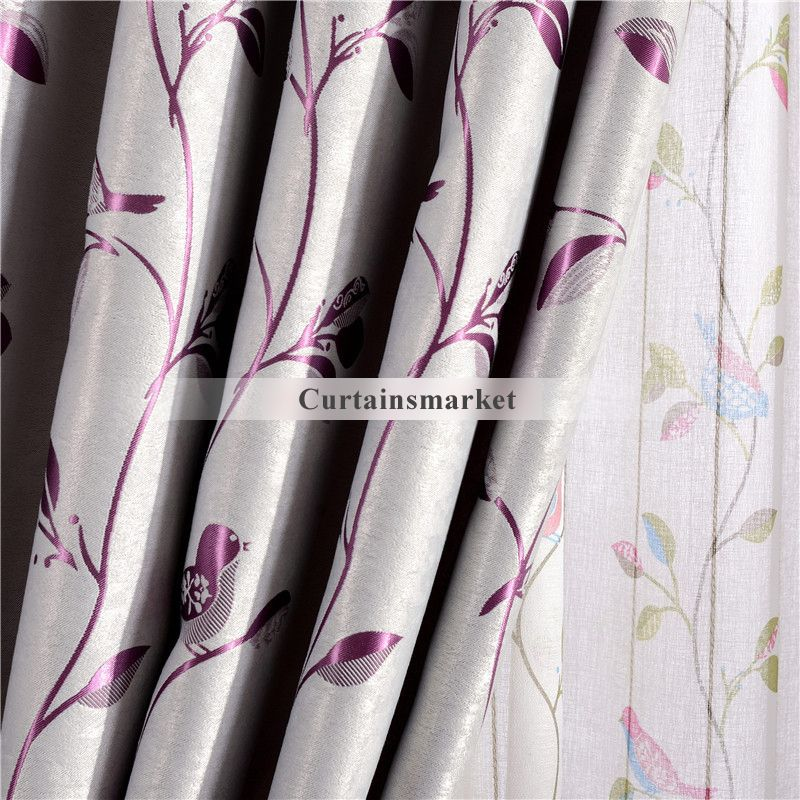 Children bedroom curtains with Floral Patterns for Jacquard