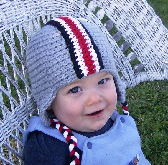 Crochet Pattern OSU Colors Football Earflap Helmet with Decals ...