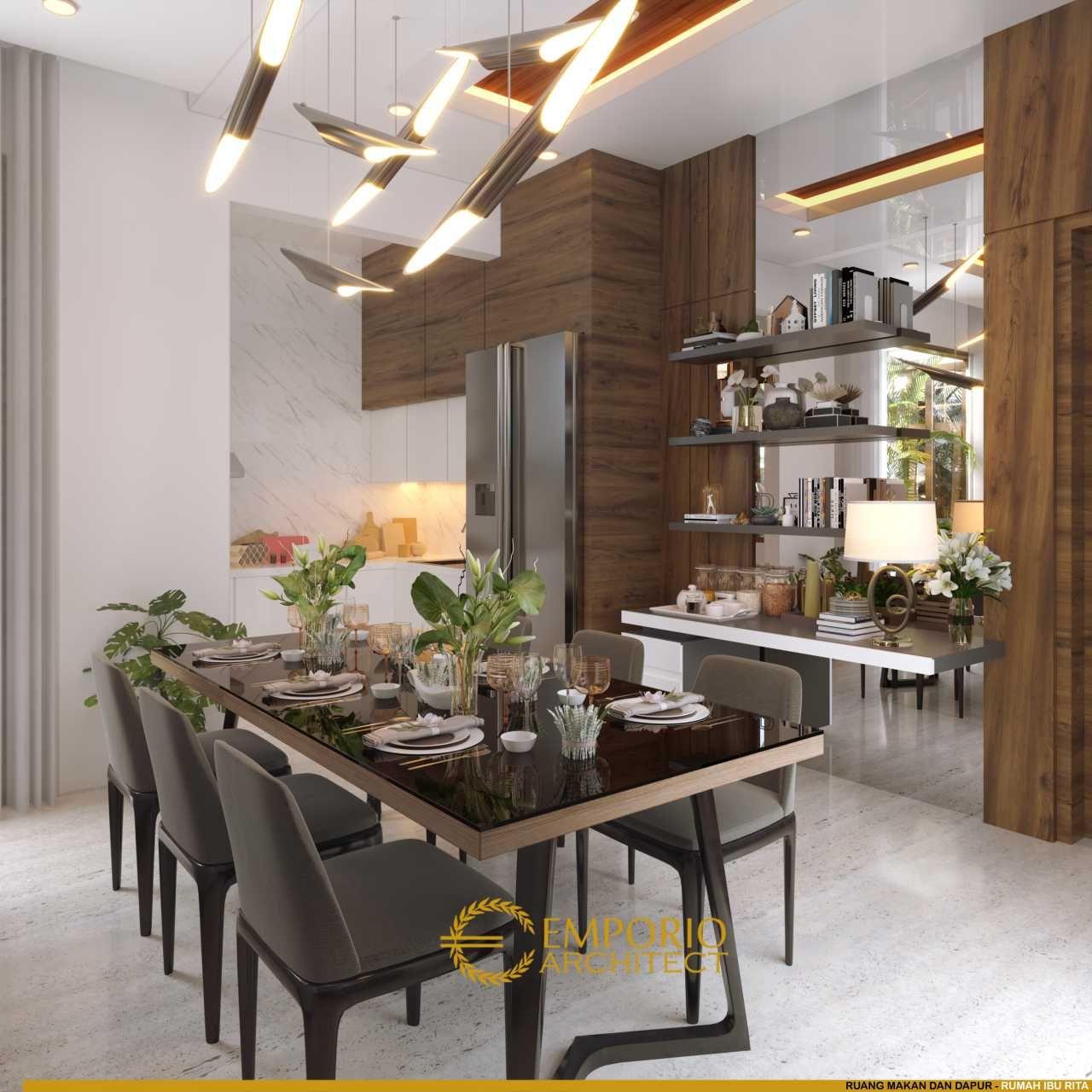 Desain Rumah Villa Bali 2 Lantai Ibu Rita Di Jakarta Barat Di 2020   Desain Rumah, Rumah, Desain Ruang Makan