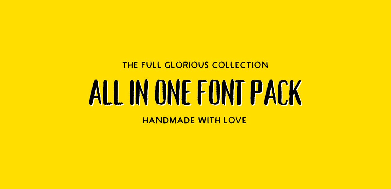 Download The Ultimate Handcrafted Fonts Collection (PLUS BONUS ...