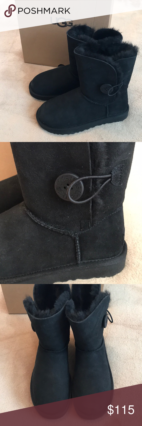HOST PICK 🎉 NIB UGG Bailey Button black boots Ugg bailey