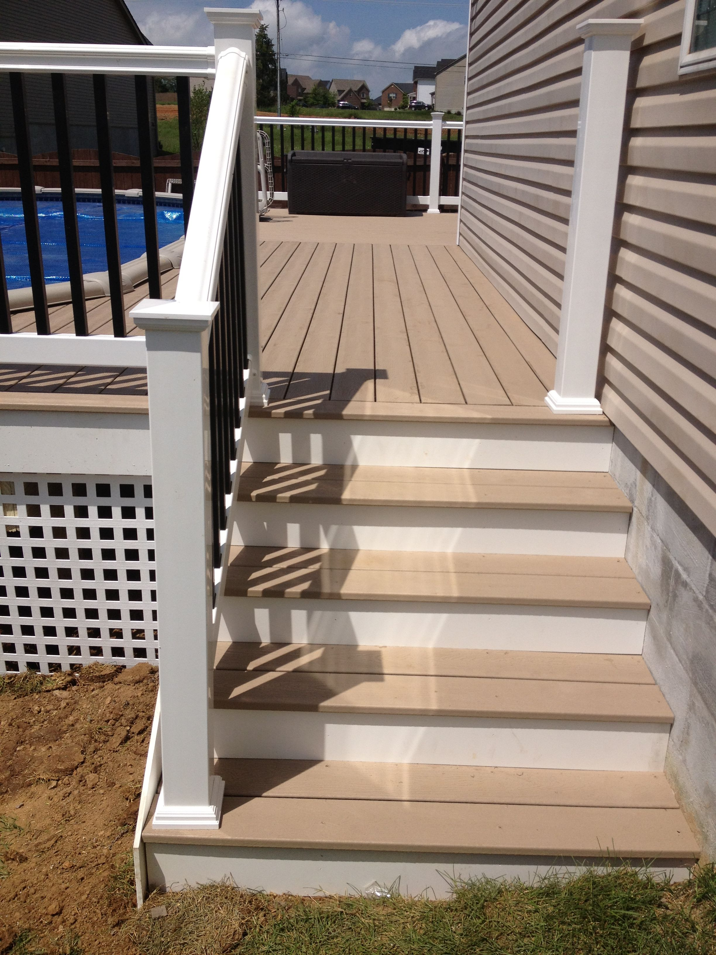 Best Stairs And Rope Swing Stairs With With Cellular Pvc Risers 640 x 480