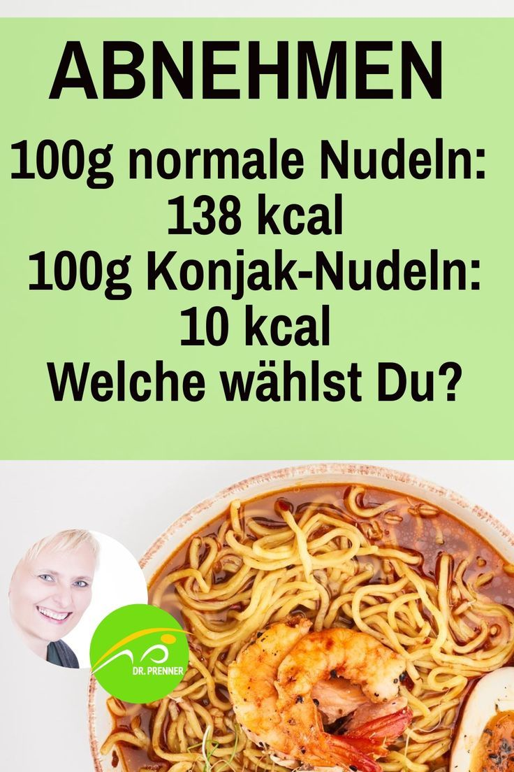 Diätnudeln zur Gewichtsreduktion
