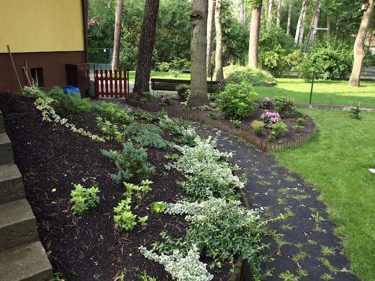 Gartengestaltung Hanglage Modern. steinmauer garten pinterest ...