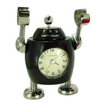 Novelty Robot Alarm Clock Tokibot Black Tank By Tokyobay Http Www Amazon Com Dp B004csnm42 Ref Cm Sw R Pi Dp Zjxhsb0ph7b1 Alarm Clock Clock Novelty Clocks