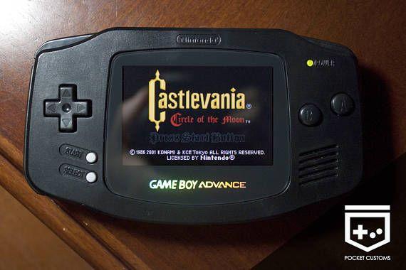 Gameboy Advance Backlight Mod Custom Shell Glass Screen Gameboy Gameboy Advance Retro Gamer