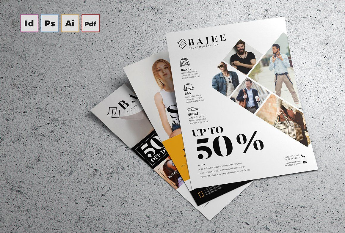 Fashion Flyer Template for InDesign   Graphic   Pinterest