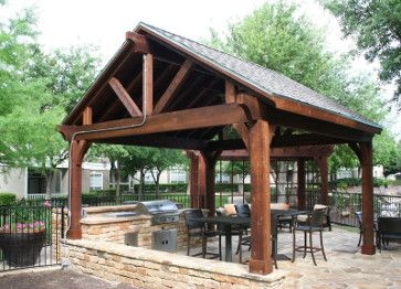 Find Relief From The Hot Sun Under A Pitched And Shingled Covered Arbor.  View Images Of Shingled Roof Arbors From Actual Garden Structure Design ...