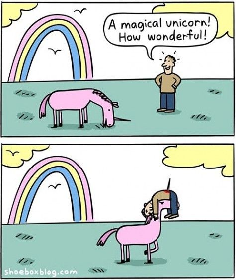 Funny Magical Unicorn Rainbow Comic With Images Unicorn Memes