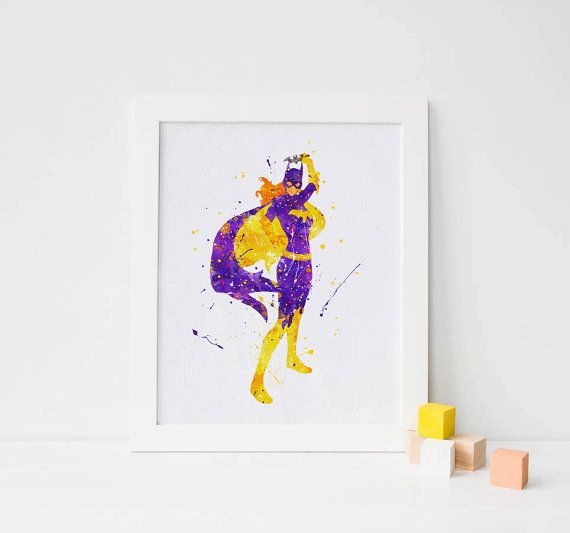 Hey, I found this really awesome Etsy listing at https://www.etsy.com/listing/287103073/superhero-batgirl-watercolor-poster