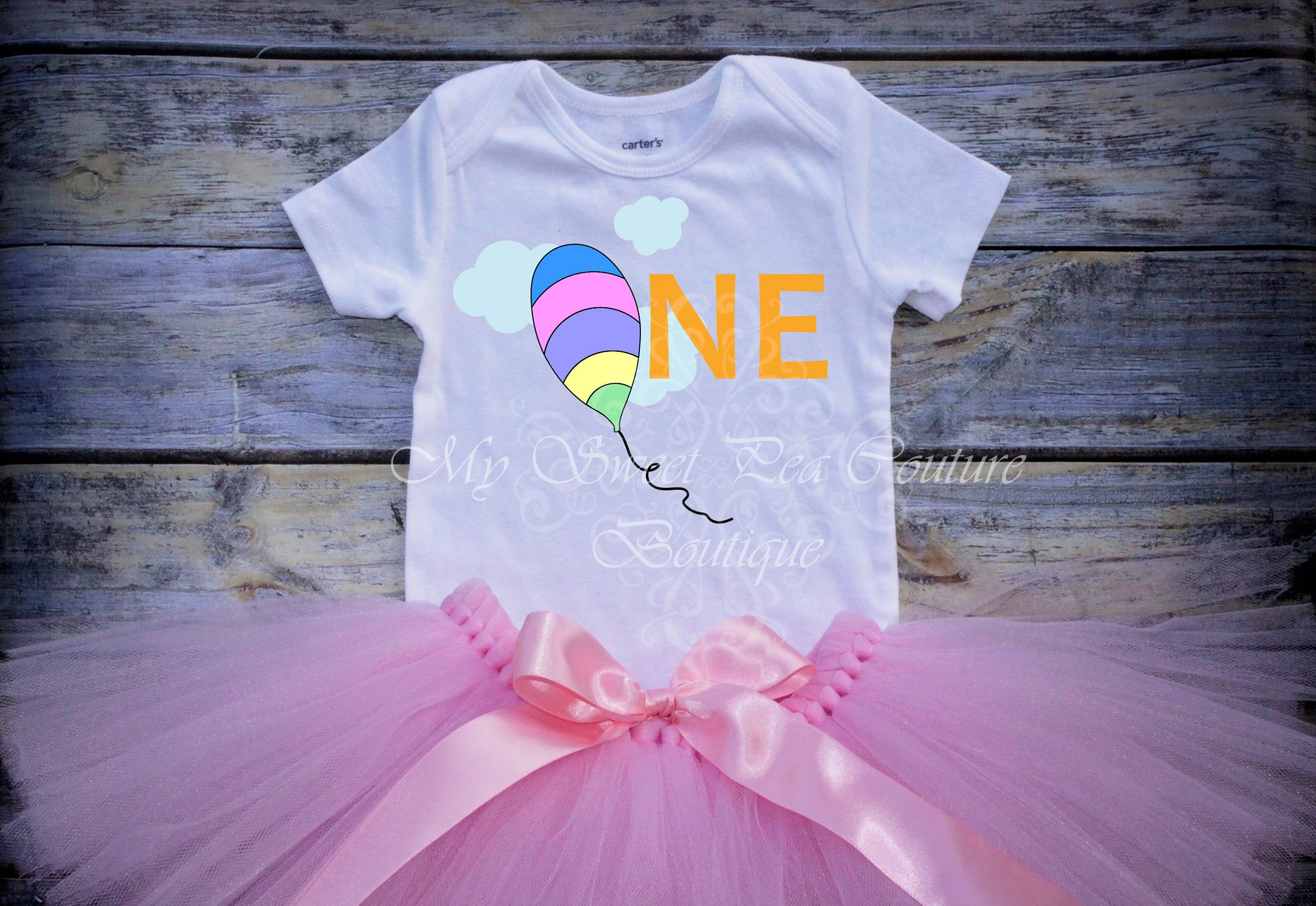 Cake Smash Outfit First Birthday Outfit One Hot Air Balloon First Birthday Oh the Places You/'ll Go First Birthday Outfit 1st Birthday