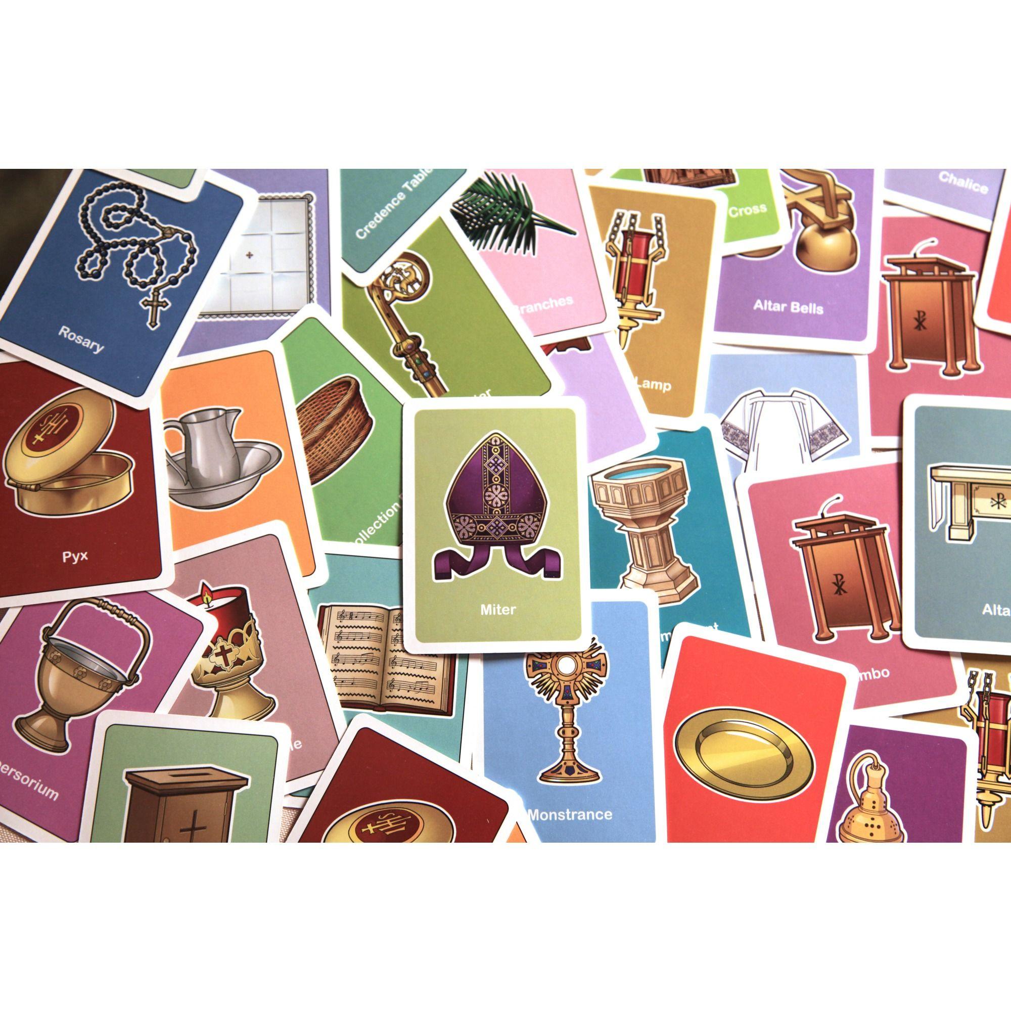 Catholic words card matching game vol ii matching