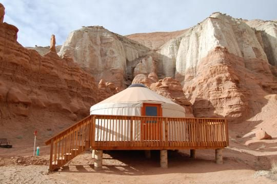 Goblin Valley Yurt 65 A Night Spenr Than Tent Camping Cooler Hotel
