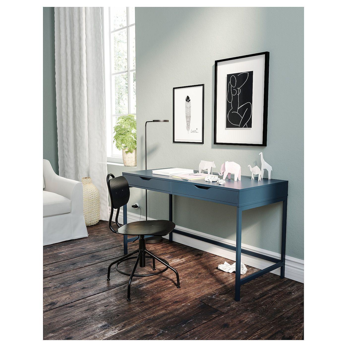 Alex Desk Blue 51 5 8x23 5 8 Ikea Ikea Alex Desk Alex Desk Ikea Workspace