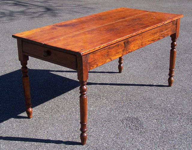Kitchen Tables With Drawers Antique american country pine kitchen table with drawer c1830 antique american country pine kitchen table with drawer c1830 workwithnaturefo