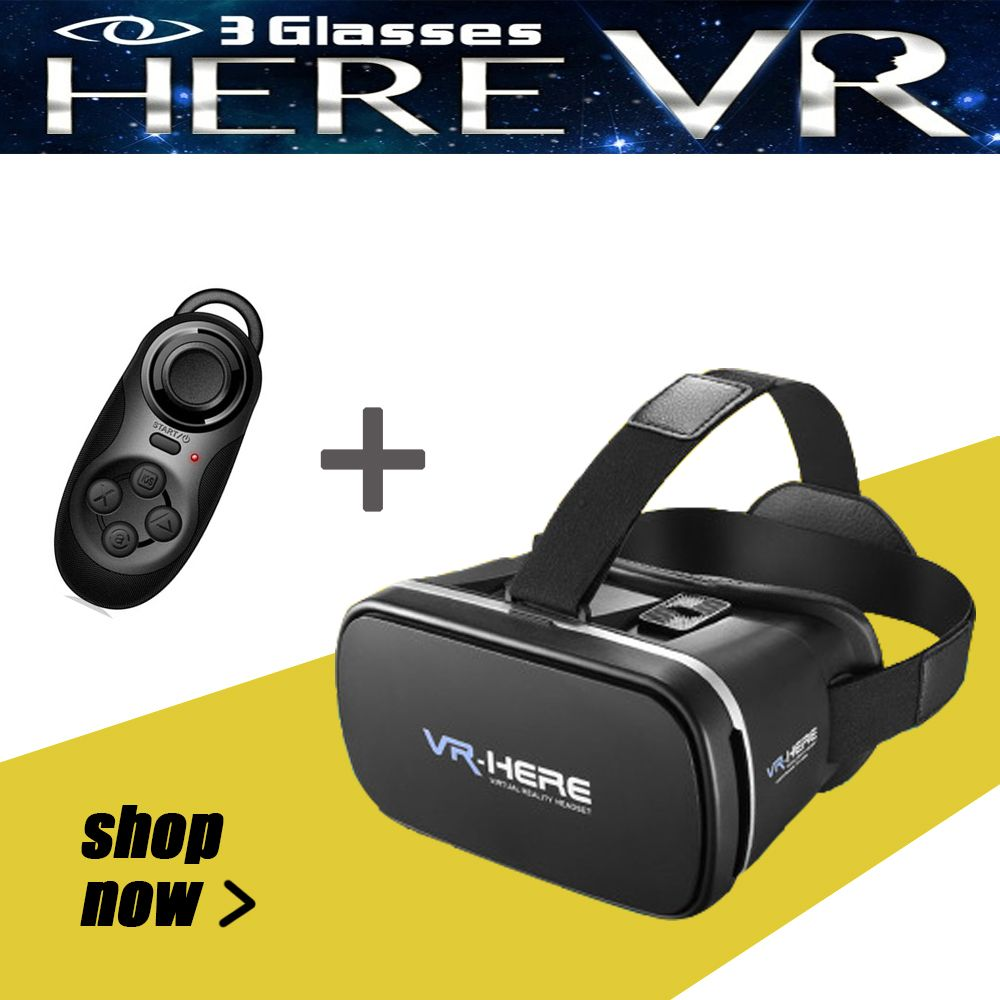 Healthy Blue Ray 3D Glasses IMAX Headset Broader VR BOX Removable Cleaning Original+Bluetooth Gamepad Massive Free Resources