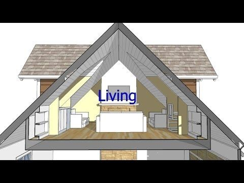 Design An Attic Roof Home With Dormers Using Sketchup Quick Overview And Animation Youtube House Plans Attic House House Front Porch
