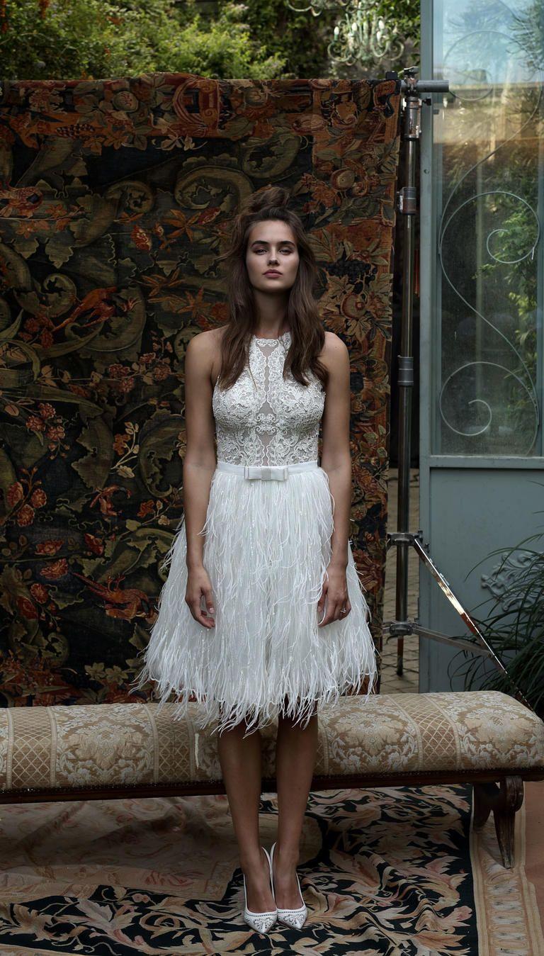 15 Wedding Dresses Perfect for an Elopement | Feather skirt ...
