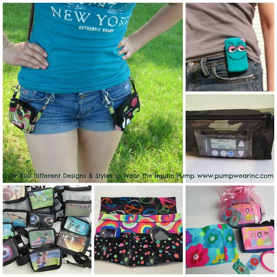 insulin pump cases and clothing for the insulin pump dexcom