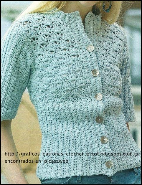 crochet diagram GRAFICOS=PATRONES=CROCHET =TRICOT = DOS AGUJAS