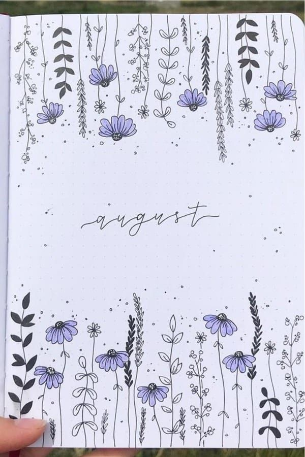 20+ Flower Themed Monthly Covers For Bujo Inspiration