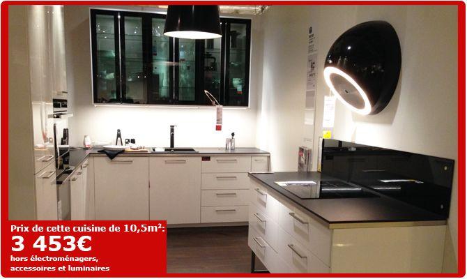 cuisines ikea choix cuisine 9 5m 3669 hors electrom nager luminaires et accessoires. Black Bedroom Furniture Sets. Home Design Ideas