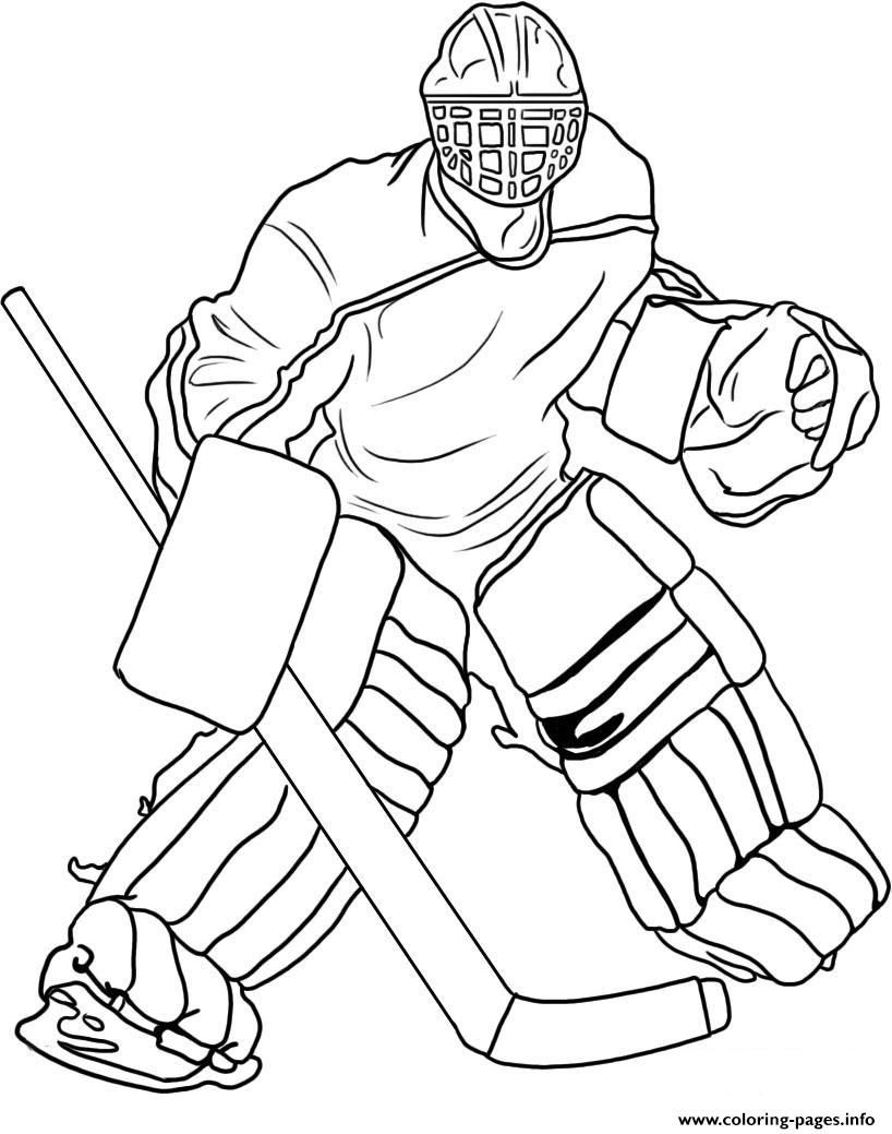 Print hockey goalie coloring pages Coloring Hockey