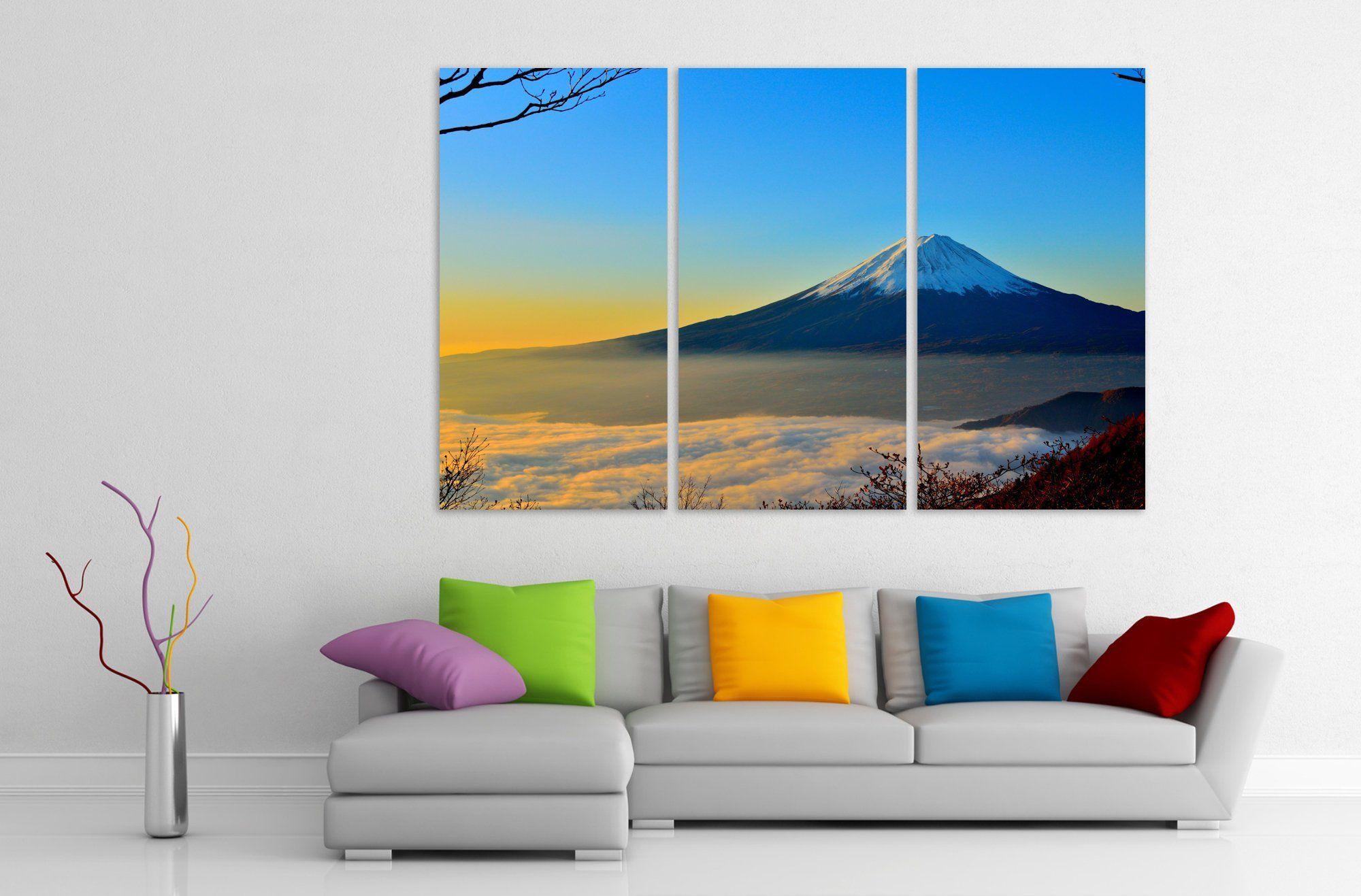 Mount Fuji Japanese Wall Art Extra Large Canvas Extralargewalldecor Extralargeprint Homedecor Canvasart Japanese Wall Art Japanese Wall Extra Large Canvas
