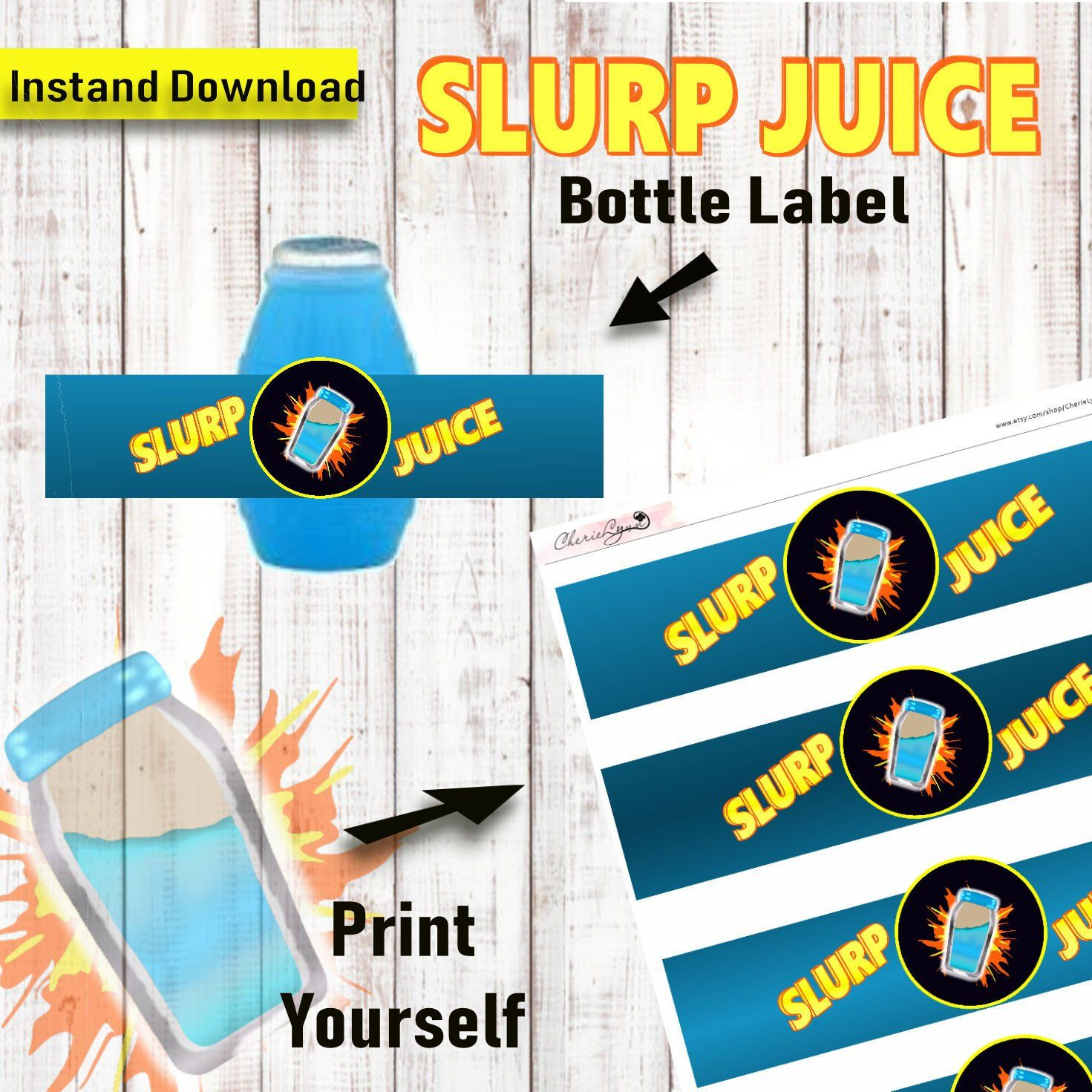Brahma Kumaris Positive Thinking Quotes: Free Printable Fortnite Water Bottle Labels Yamir39s Party T