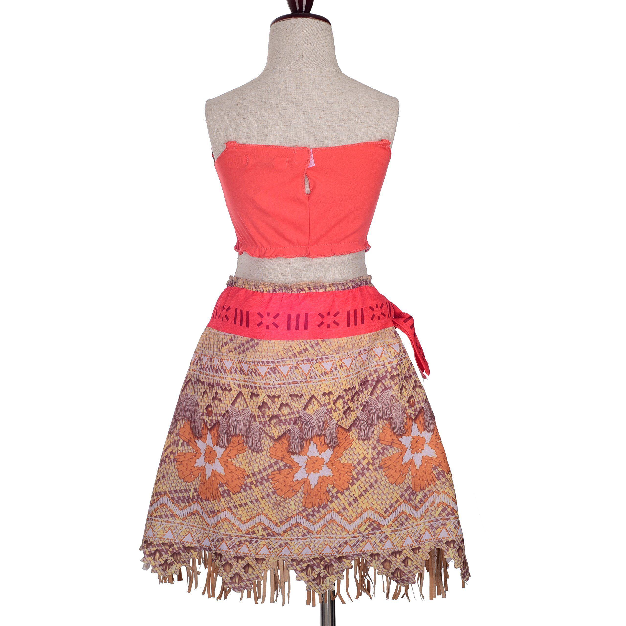 Dressy Daisy Girls Adventure Princess Moana Costumes Skirt Set Halloween Dress Up