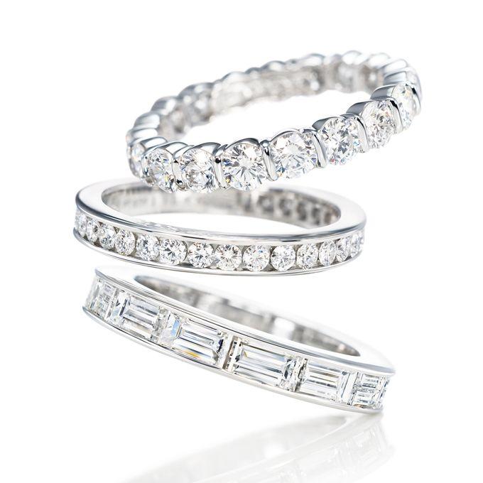 Womens Wedding Rings with Diamonds Harry winston Diamond and