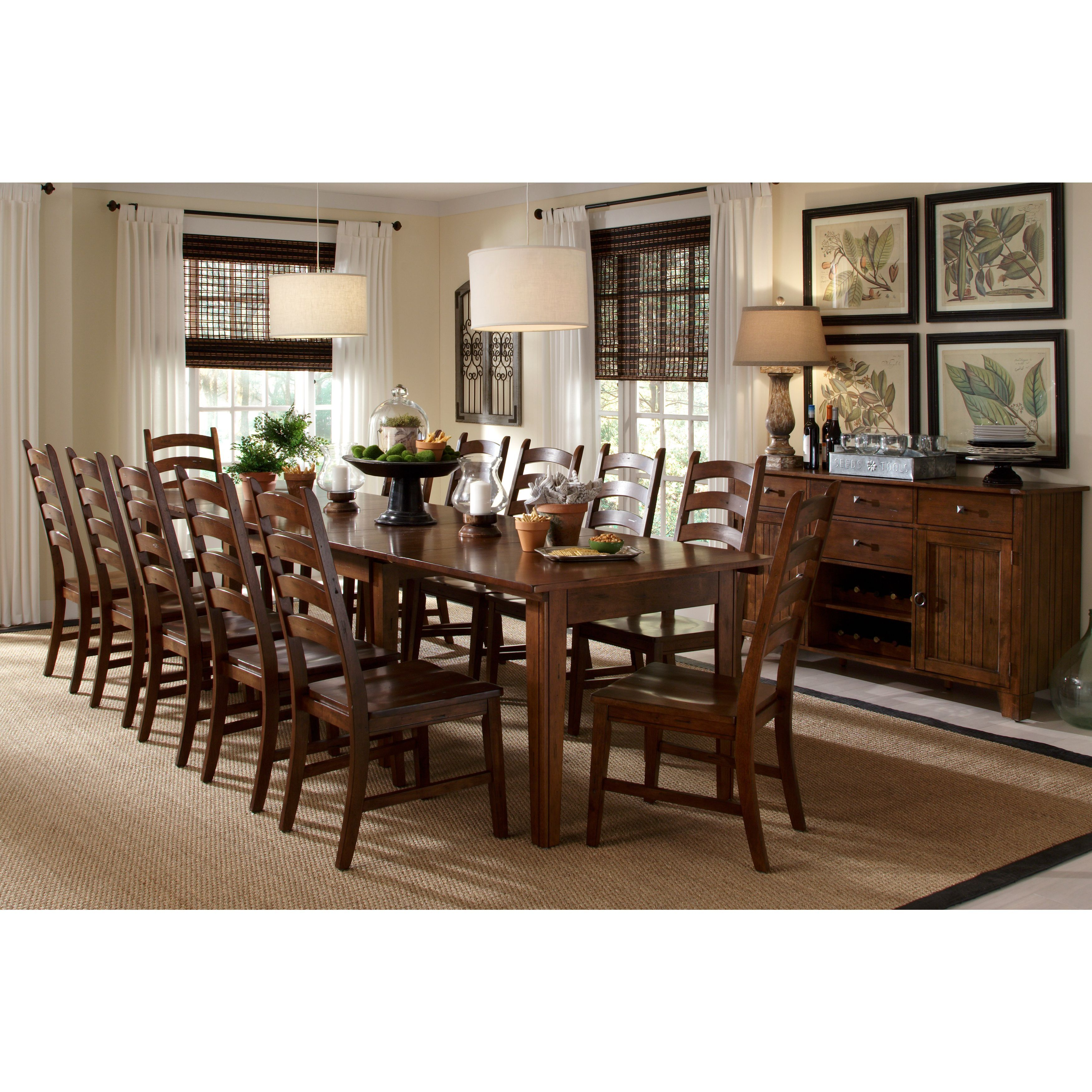 Simply solid auden solid wood piece dining collection solid