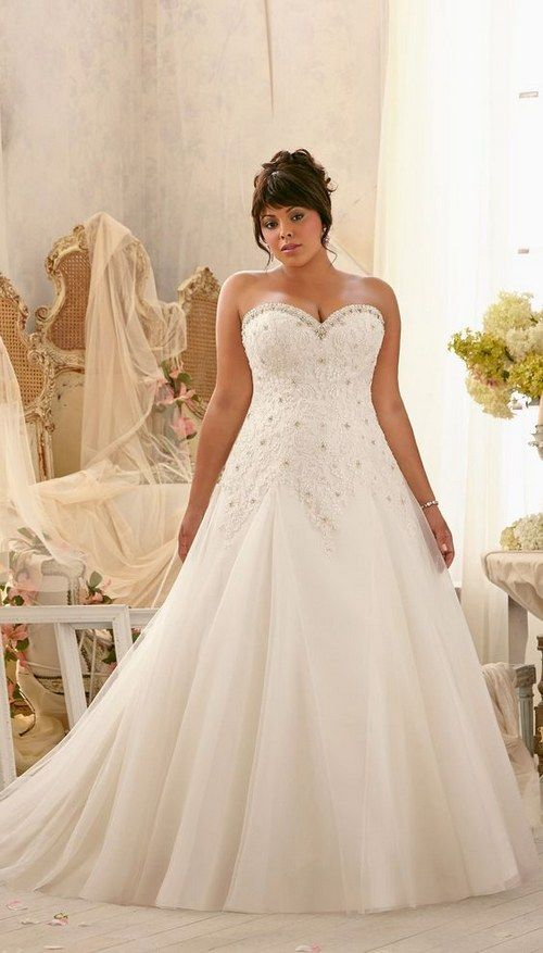 100 Gorgeous Plus Size Wedding Dresses Pinterest Sweetheart