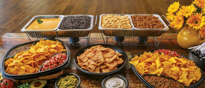 Taco nacho bar for Table 52 brunch menu