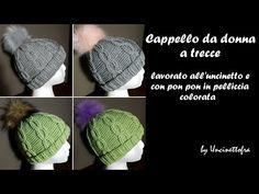 Cappello da donna all uncinetto con le trecce (tutorial completo) - YouTube efcfe104edeb