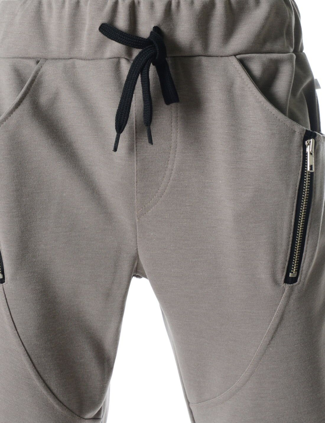 (MZP09) TheLees Running Trousers Diagonal Line Zipper Active Jogger  Sweatpants 15e098ef78ccb