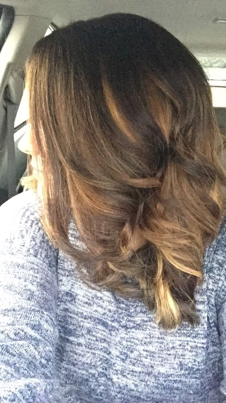Light Brown Hair With Caramel And Dirty Blonde Highlights Fav
