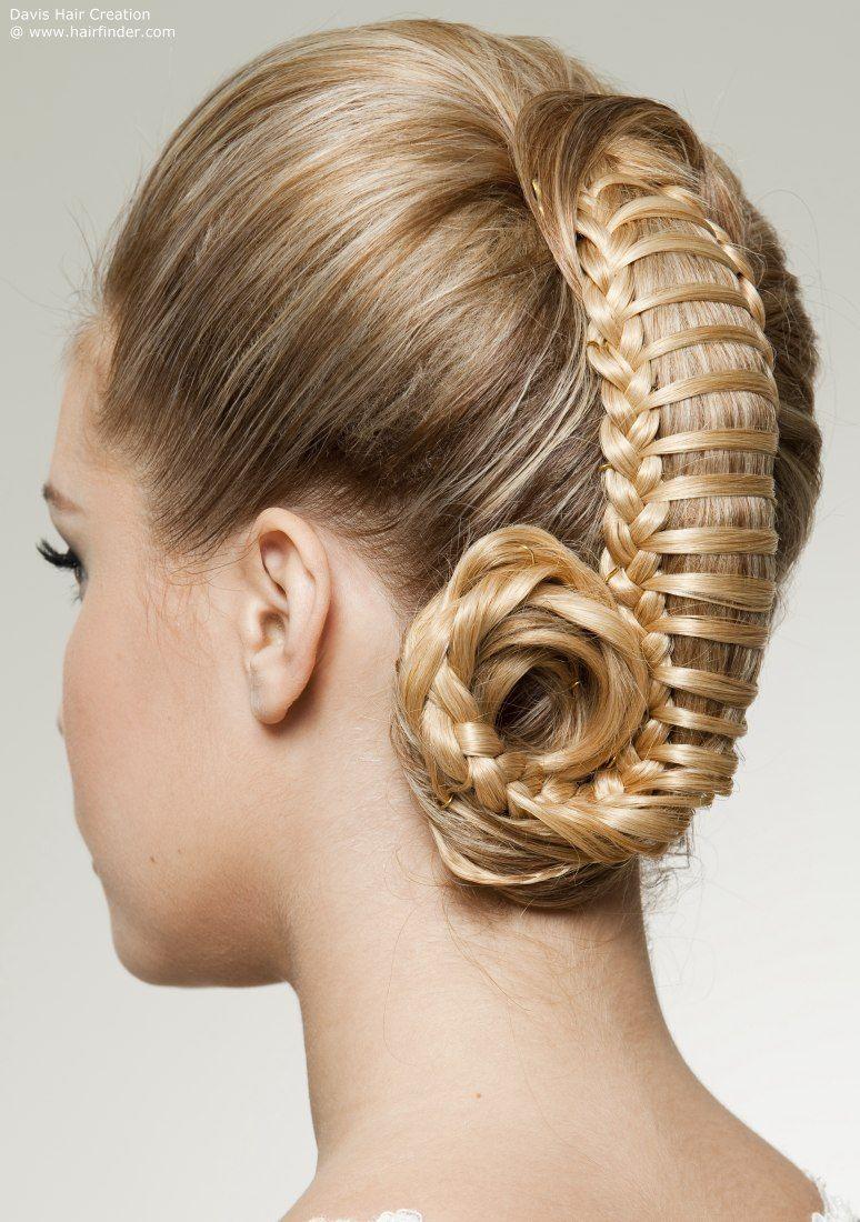 woven hair up-style | make up designs | Pinterest | Hair ...