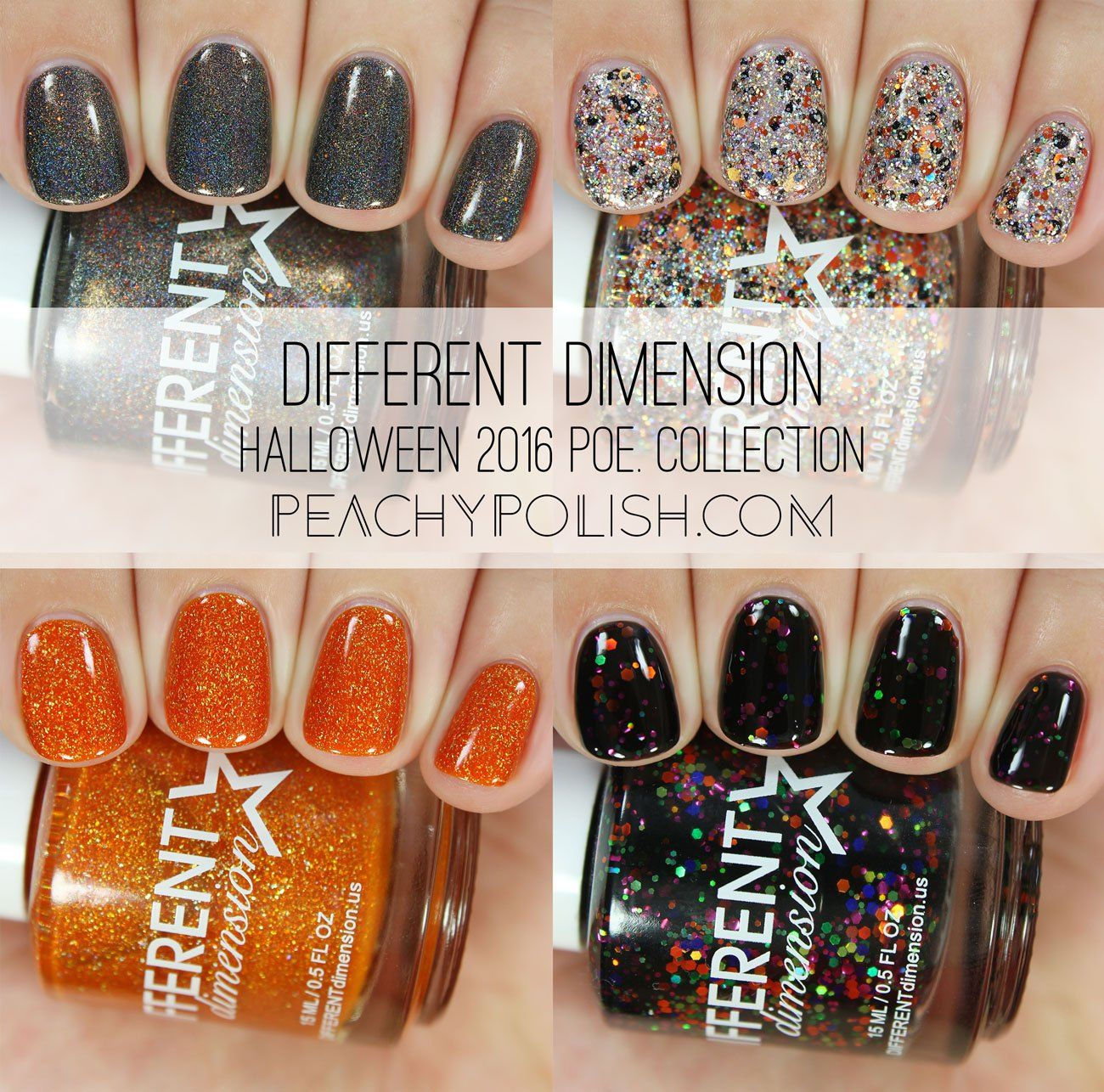Different Dimension Halloween 2016 Poe. Collection | Peachy Polish