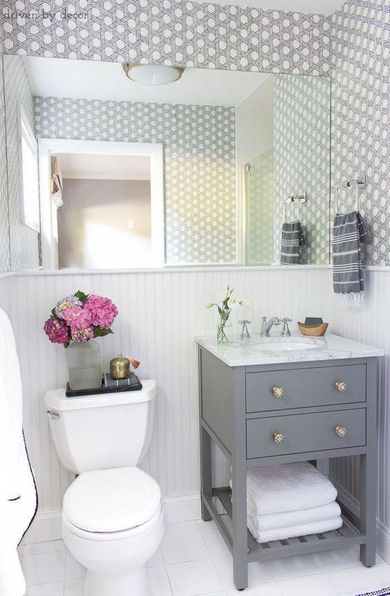 Our Small Guest Bathroom Makeover: The Before and After Pictures! #smallbathroomremodel
