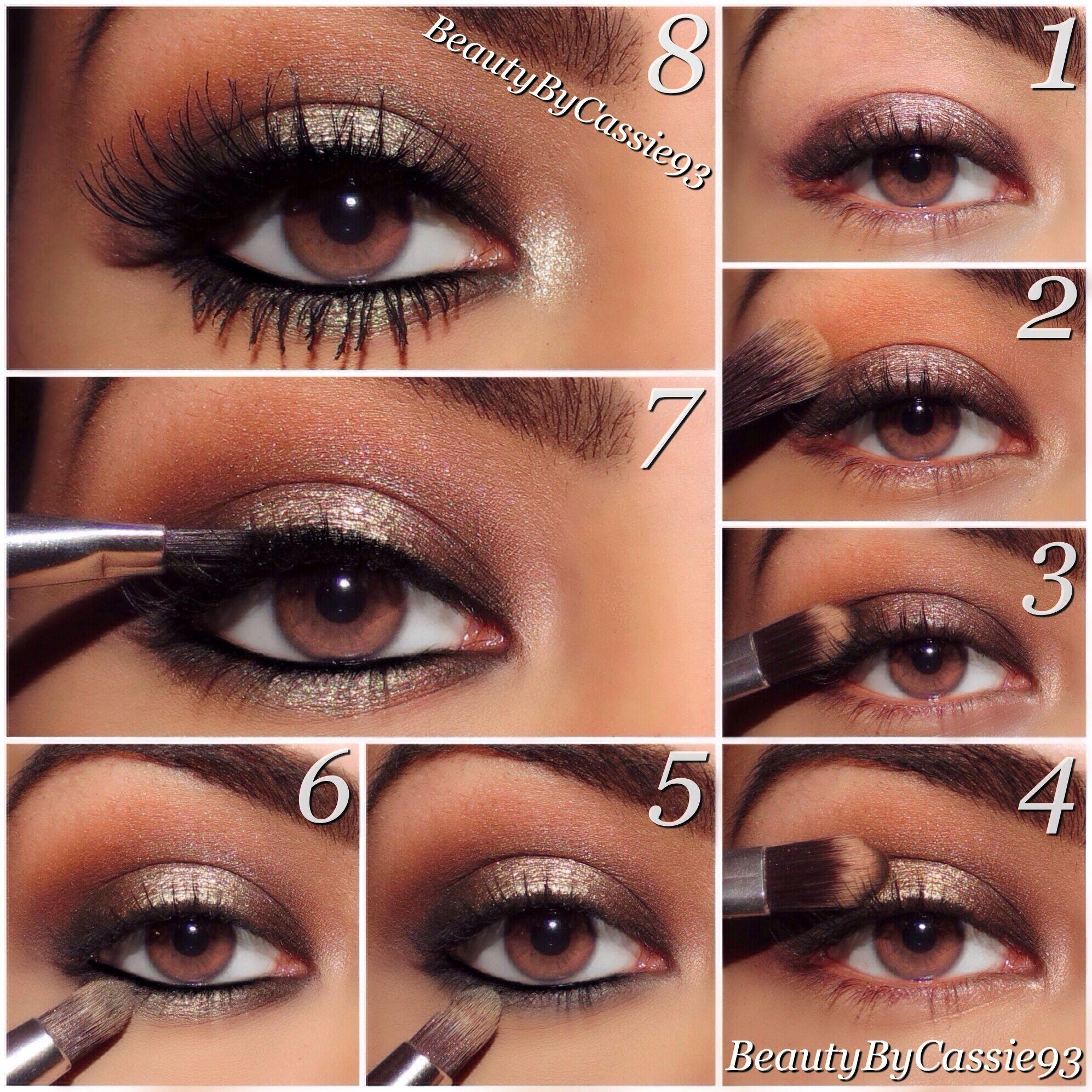 Photo of smokey bronze eyes