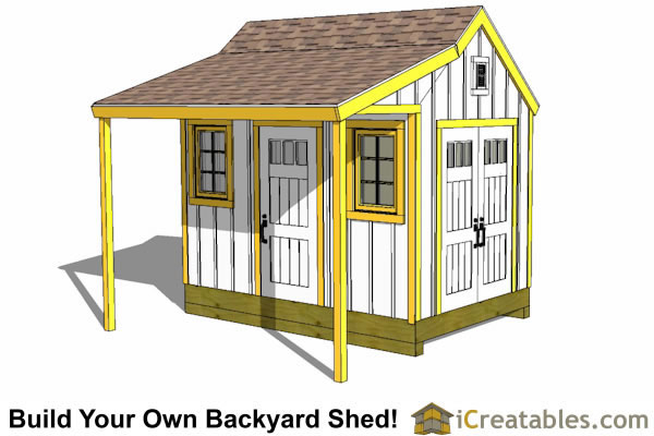 8x12 Shed Plans Buy Easy To Build Modern Shed Designs Shed With Porch 8x12 Shed Plans Shed Design