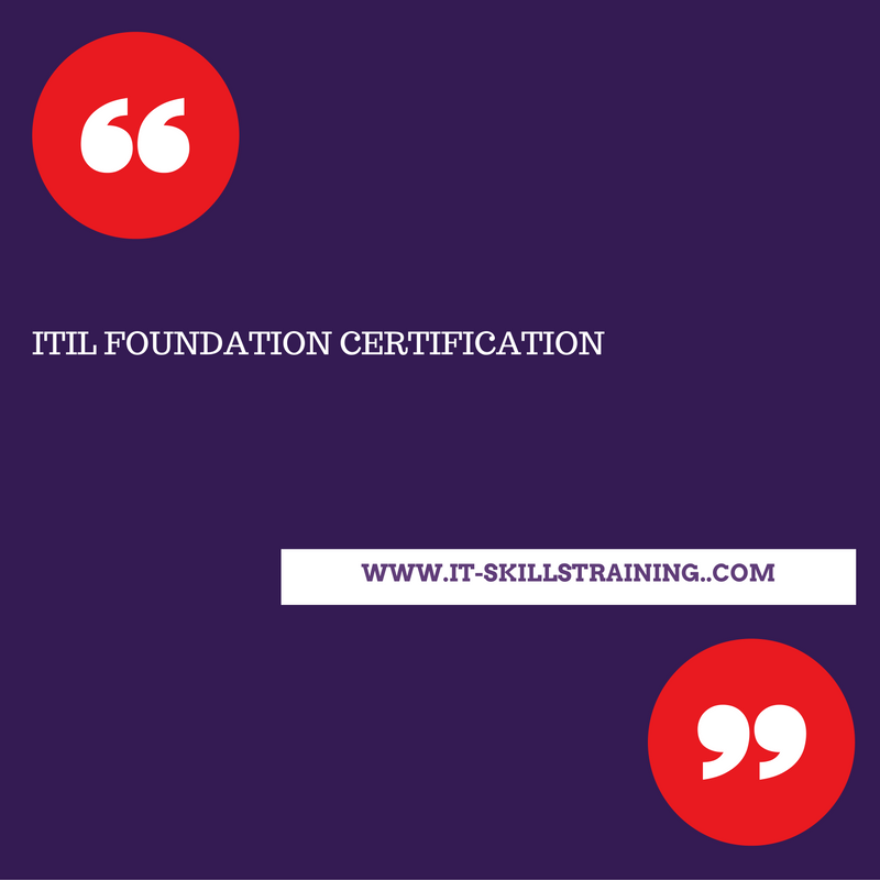 Itil Foundation Certification Training Course Is The Basic And First